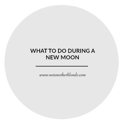 what to do during a new moon