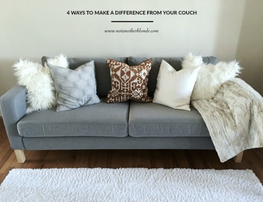 ways to make a difference from your couch