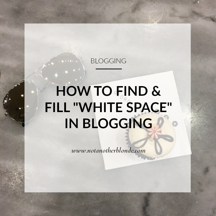 how to find white space in blogging