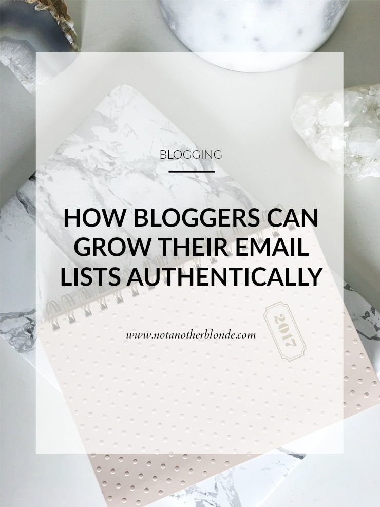 how bloggers can grow their email lists