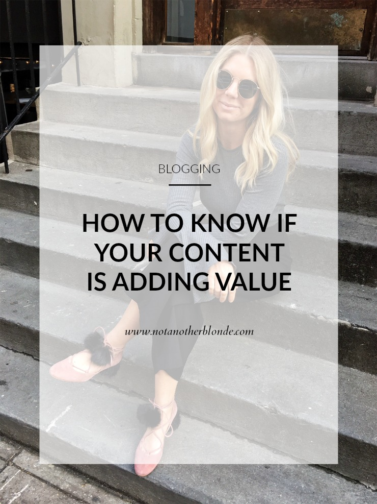 how to know if your content adds value