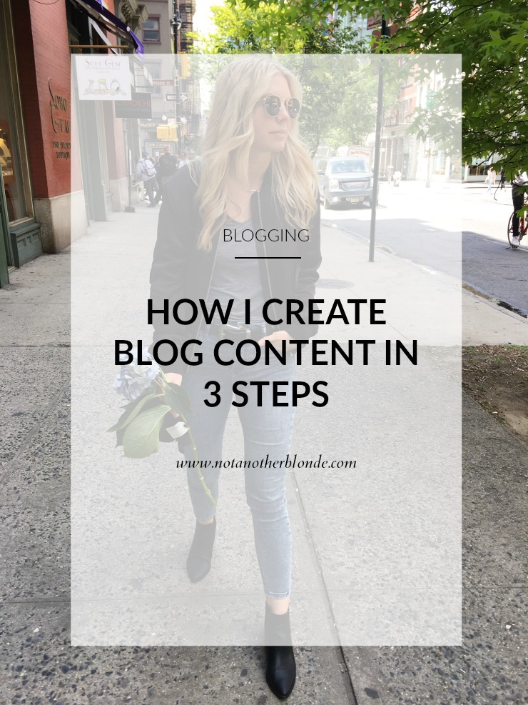how i create blog content in 3 steps
