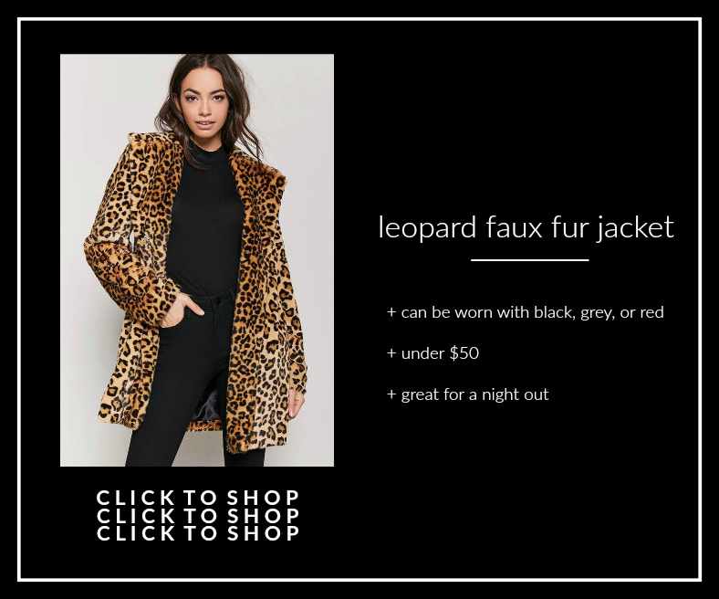 75f3ac709455 forever 21 leopard faux fur jacket - Not Another Blonde