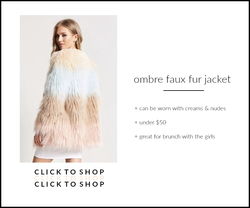 forever 21 ombre faux fur jacket