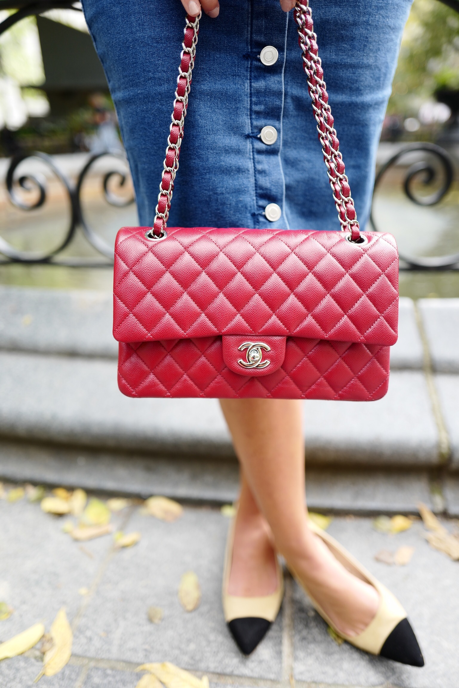 red chanel boy bag