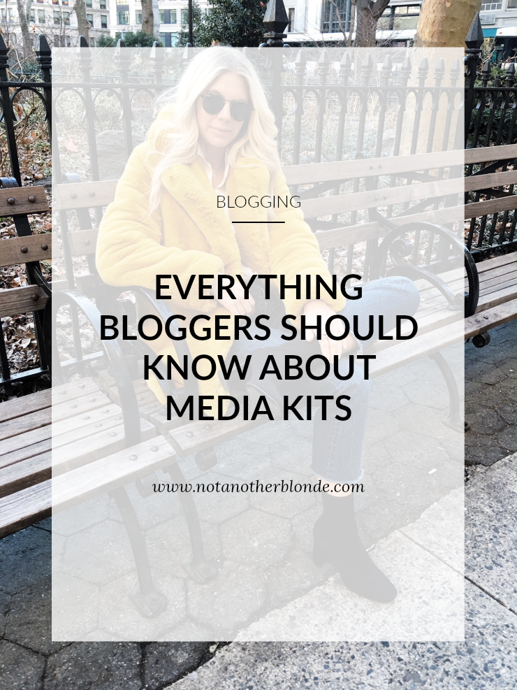 how bloggers can make a media kit