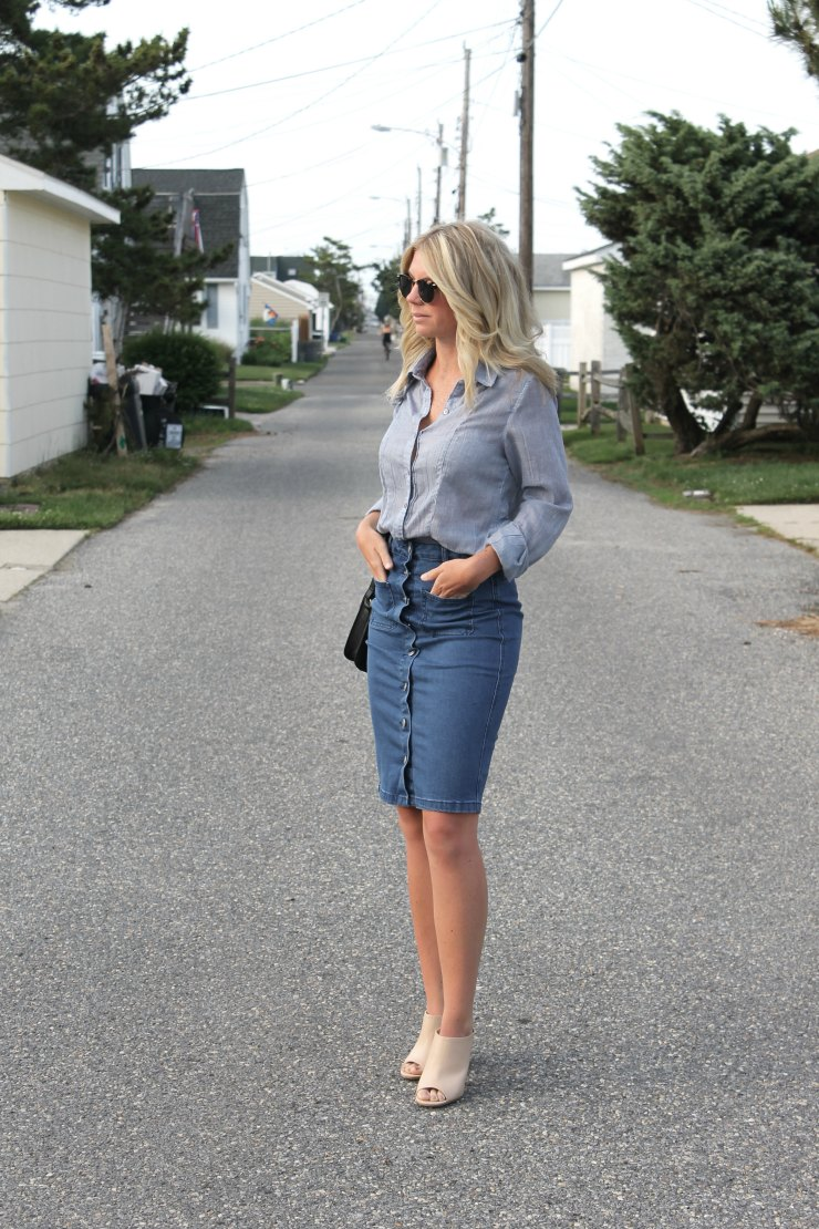 What to Wear Denim Skirt with